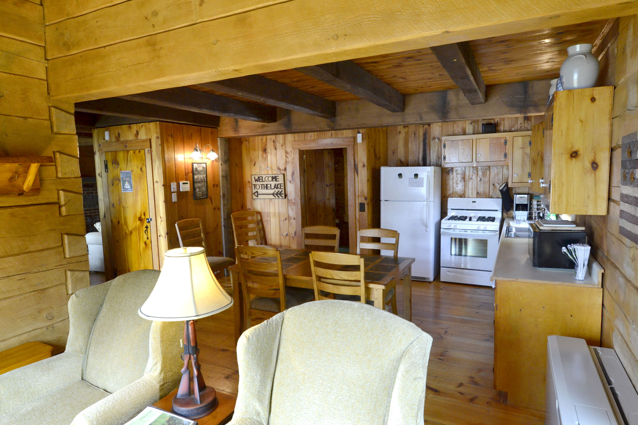 rentals nest pittsburg s cabin cabins loon youtube watch back nh on lake